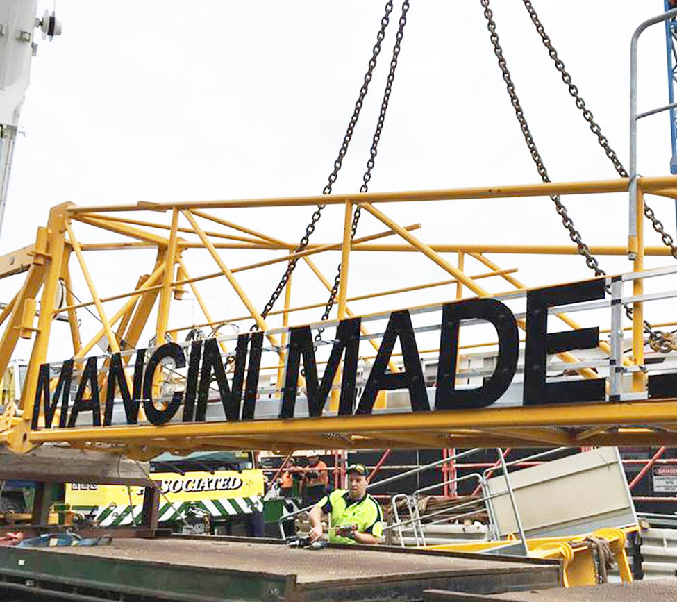 Non Illuminated Crane Signs
